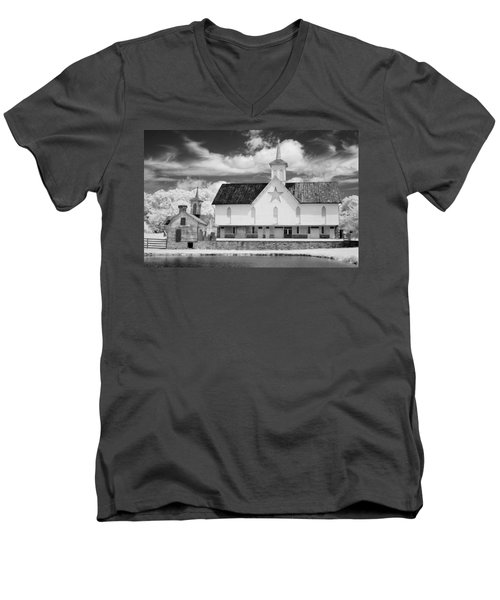 The Star Barn - Infrared Men's V-Neck T-Shirt