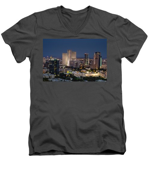 Men's V-Neck T-Shirt featuring the photograph The State Of Now by Ron Shoshani