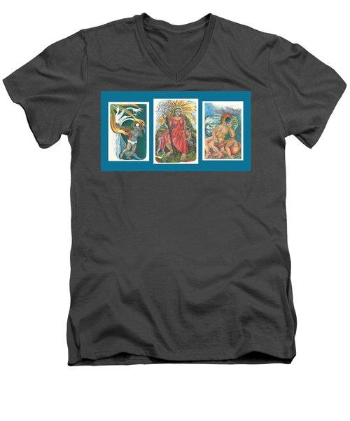 The Strength Tryptic Men's V-Neck T-Shirt