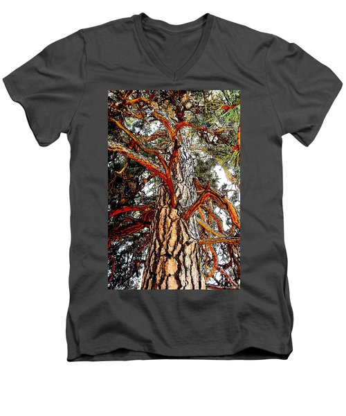 Men's V-Neck T-Shirt featuring the photograph The Strong One by Joseph J Stevens