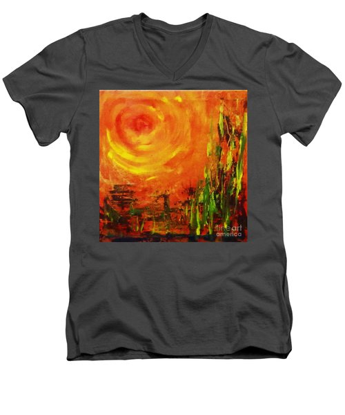 The Sun At The End Of The World Men's V-Neck T-Shirt