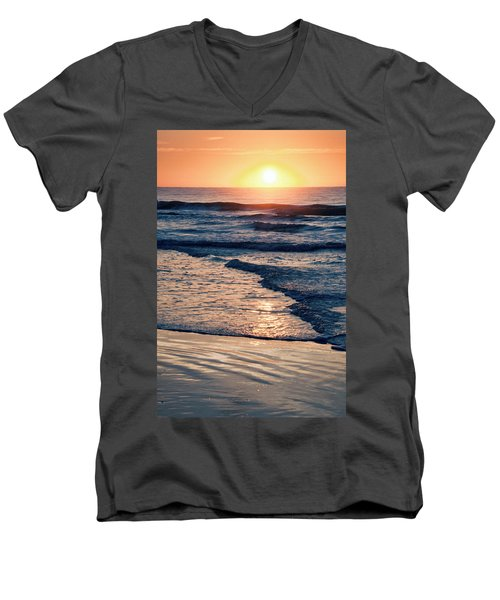 Sun Rising Over The Beach Men's V-Neck T-Shirt