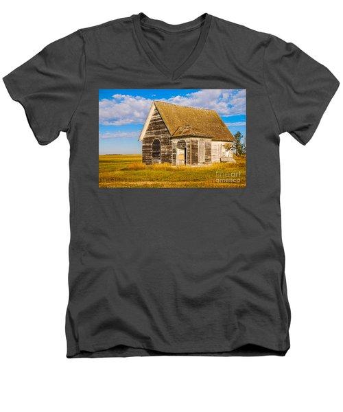 The Sunbeam Church Men's V-Neck T-Shirt by Mary Carol Story