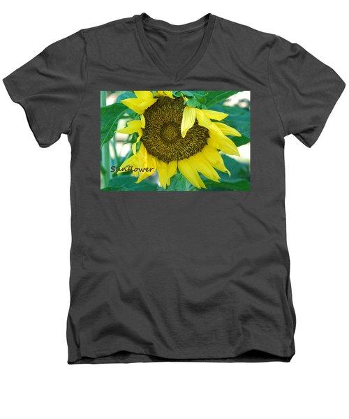 Sunflower Garden Men's V-Neck T-Shirt by Lisa  DiFruscio