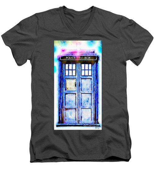 The Tardis Men's V-Neck T-Shirt