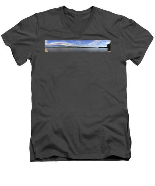 The Tennessee River In Alabama Men's V-Neck T-Shirt by Verana Stark