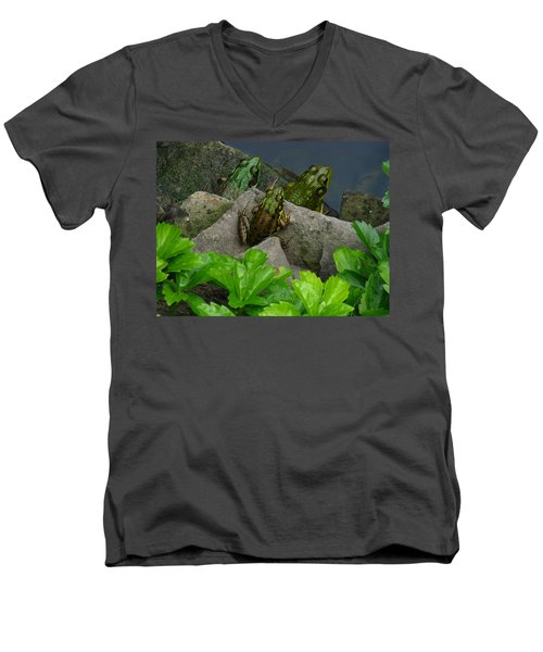 Men's V-Neck T-Shirt featuring the photograph The Three Amigos by Raymond Salani III