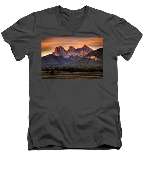 The Three Sisters Canmore Men's V-Neck T-Shirt