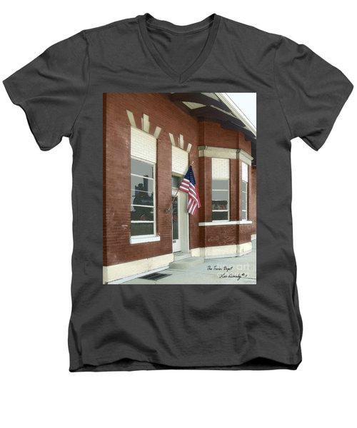 The Train Depot Men's V-Neck T-Shirt