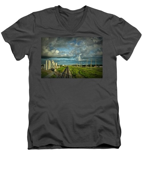 The Train Yard Men's V-Neck T-Shirt