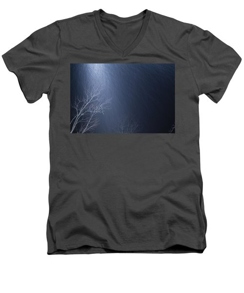 The Tree Under The Snowfall Men's V-Neck T-Shirt