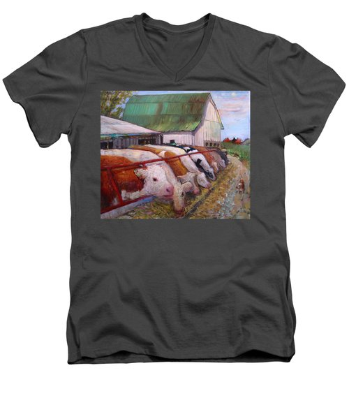 The Trought Men's V-Neck T-Shirt