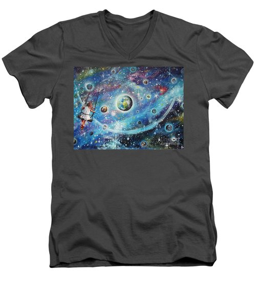 The Universe Is My Playground Men's V-Neck T-Shirt
