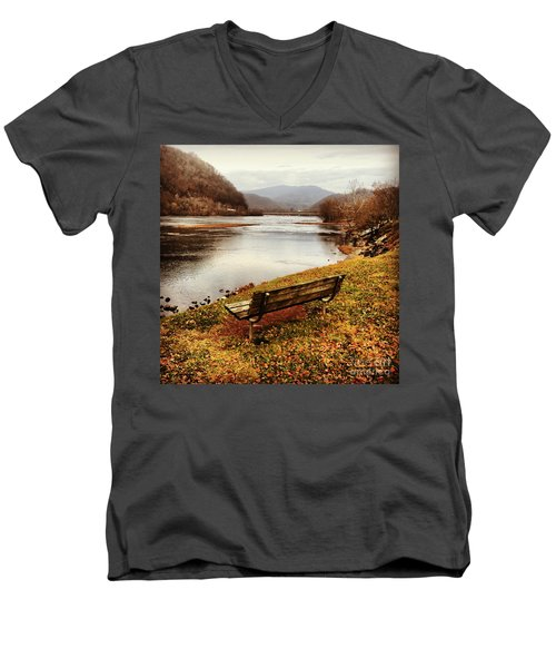 Men's V-Neck T-Shirt featuring the photograph The View by Kerri Farley