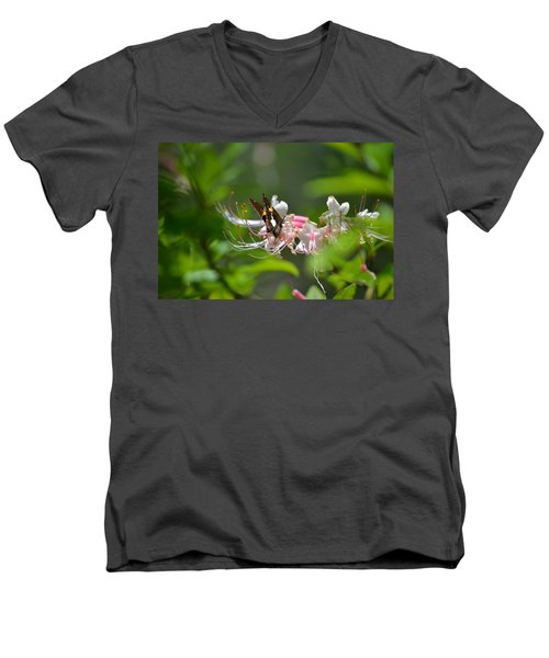 Men's V-Neck T-Shirt featuring the photograph The Visitor by Tara Potts