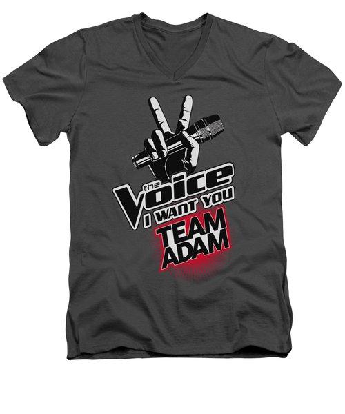 The Voice - Team Adam Men's V-Neck T-Shirt by Brand A