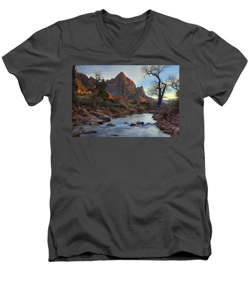 The Watchman In Winter-2 Men's V-Neck T-Shirt