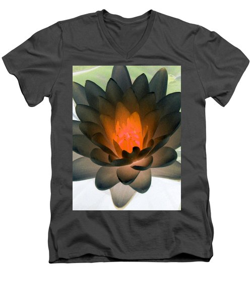 Men's V-Neck T-Shirt featuring the photograph The Water Lilies Collection - Photopower 1036 by Pamela Critchlow