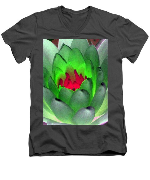 Men's V-Neck T-Shirt featuring the photograph The Water Lilies Collection - Photopower 1122 by Pamela Critchlow