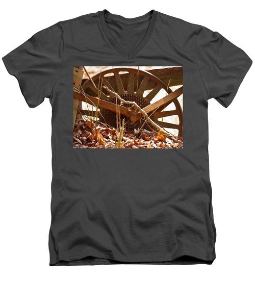 Men's V-Neck T-Shirt featuring the photograph The Wheel Of Planting by Nick Kirby