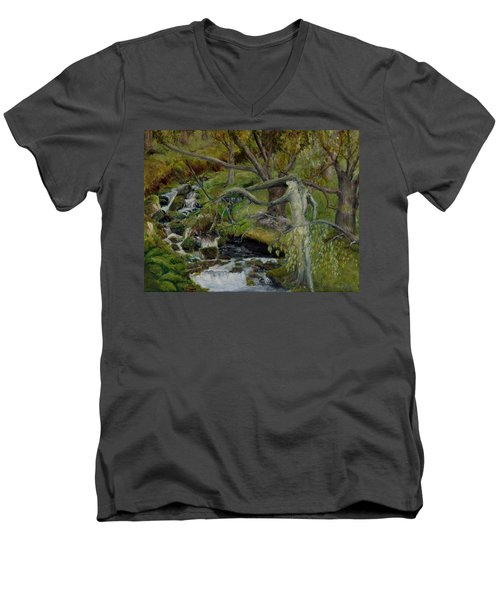 The Willow Woman Washing Her Hair Men's V-Neck T-Shirt