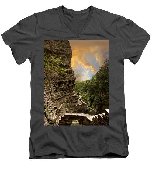 The Winding Trail Men's V-Neck T-Shirt