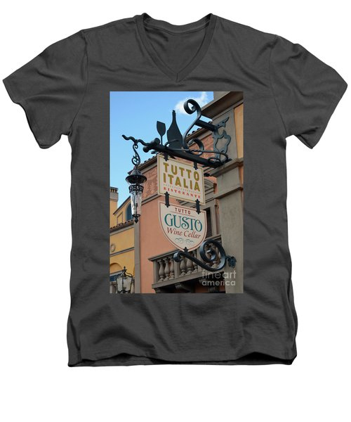 Men's V-Neck T-Shirt featuring the photograph The Wine Cellar by Robert Meanor