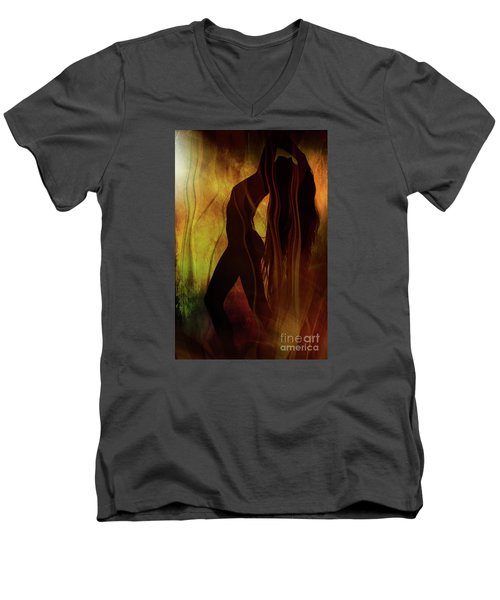 The Witches Dance... Men's V-Neck T-Shirt by Nina Stavlund