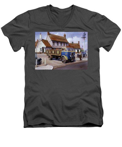 The Woodman Pub. Men's V-Neck T-Shirt