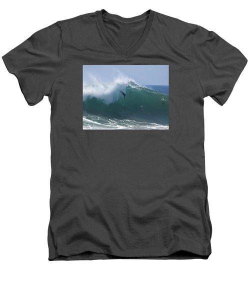 Thinking It Through Men's V-Neck T-Shirt by Joe Schofield