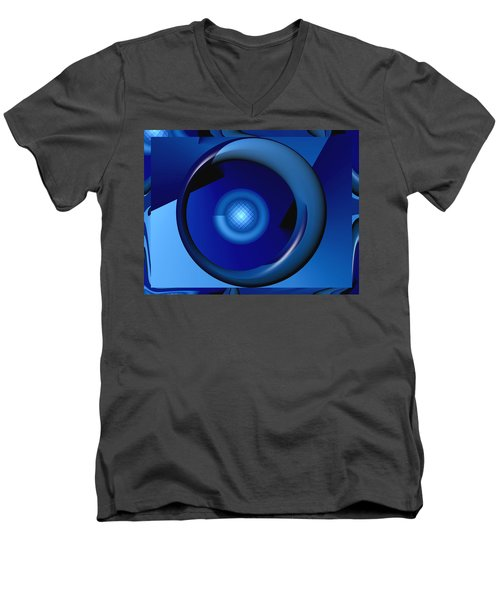Thinking Of Blue Men's V-Neck T-Shirt by Wendy J St Christopher