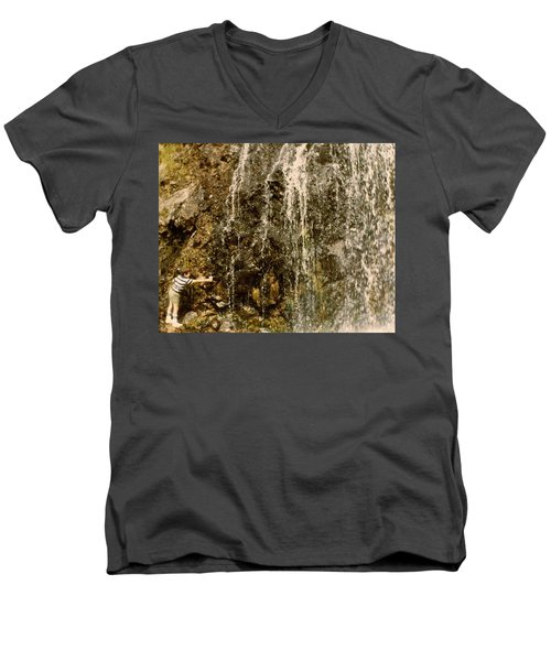 Men's V-Neck T-Shirt featuring the photograph Thirsty by Amazing Photographs AKA Christian Wilson