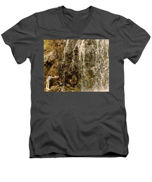 Thirsty Men's V-Neck T-Shirt by Amazing Photographs AKA Christian Wilson