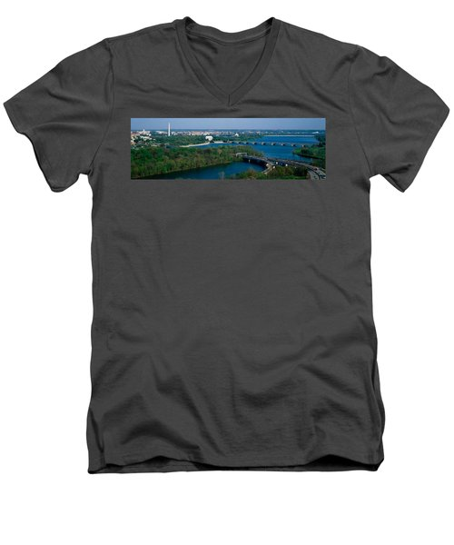 This Is An Aerial View Of Washington Men's V-Neck T-Shirt by Panoramic Images
