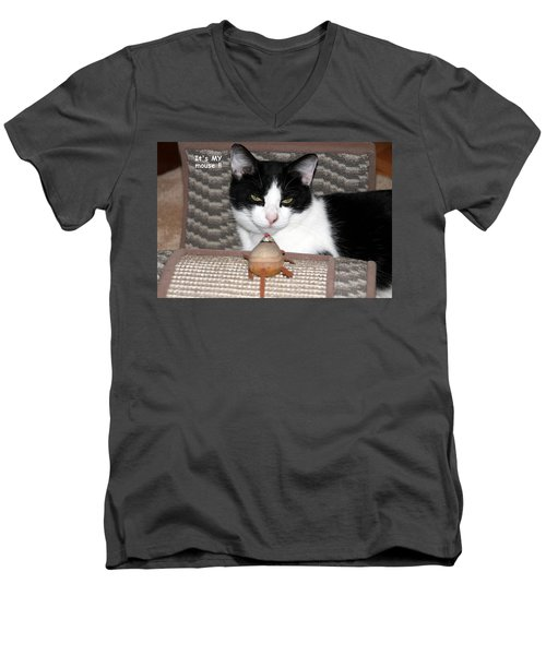 Men's V-Neck T-Shirt featuring the photograph This Is My Mouse by Laurel Talabere