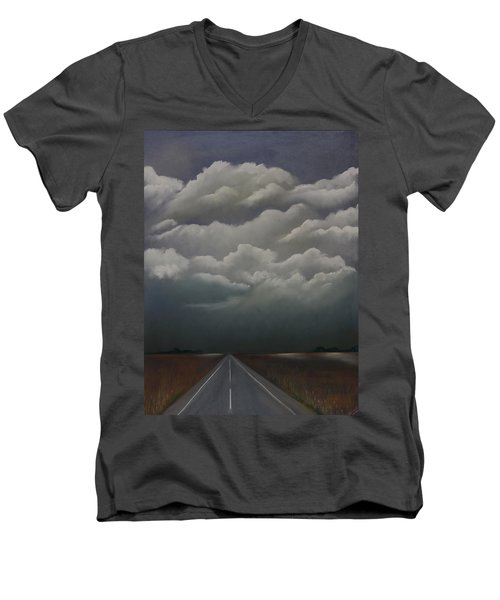This Menacing Sky Men's V-Neck T-Shirt
