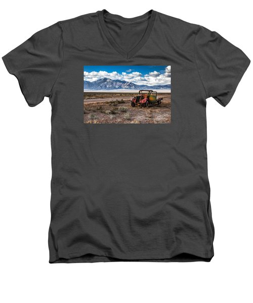 This Old Truck Men's V-Neck T-Shirt by Robert Bales