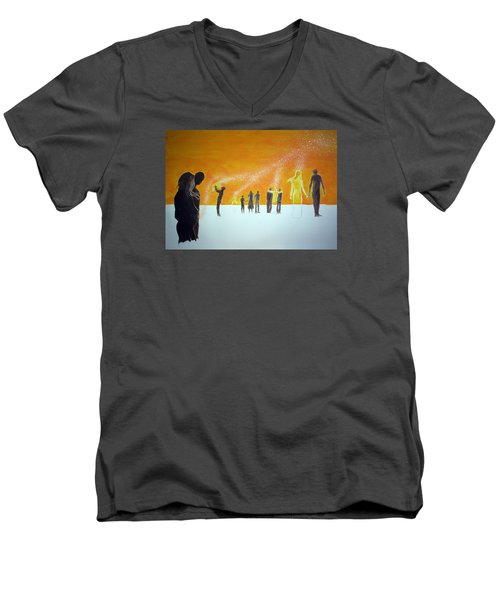 Those Who Left Early Men's V-Neck T-Shirt by Lazaro Hurtado