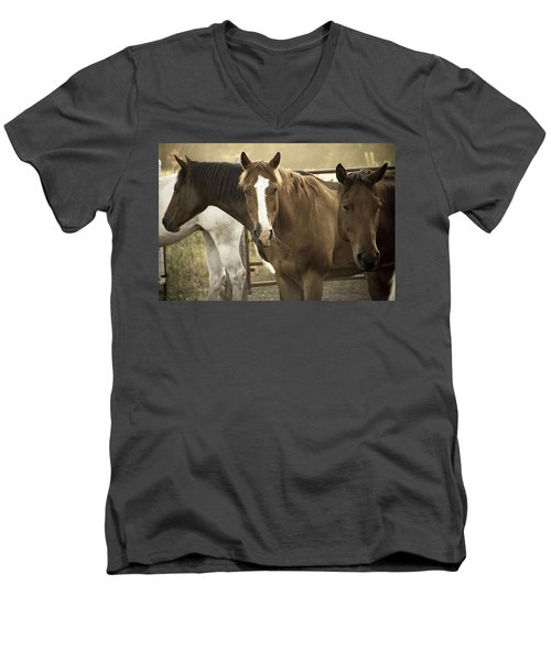 Men's V-Neck T-Shirt featuring the photograph Three Amigos by Steven Bateson