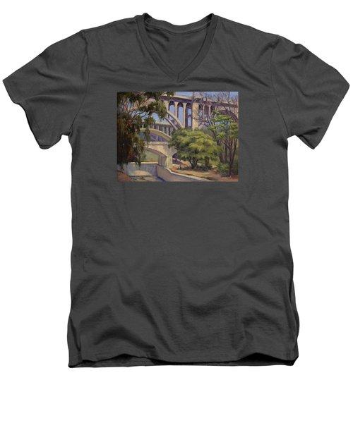 Three Bridges Men's V-Neck T-Shirt by Jane Thorpe