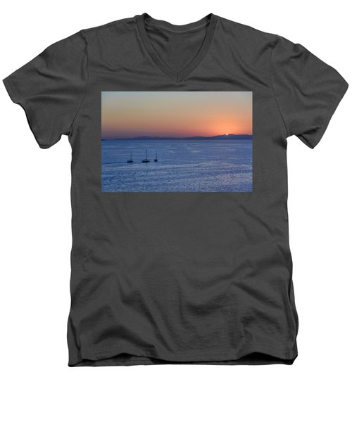 Men's V-Neck T-Shirt featuring the photograph Three Dreams by Steven Sparks