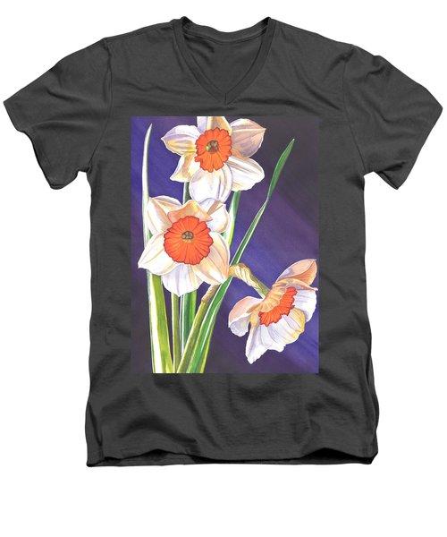 Three Jonquils Men's V-Neck T-Shirt