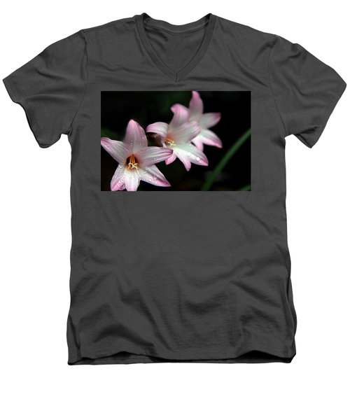 Men's V-Neck T-Shirt featuring the photograph Three Of A Kind by Greg Allore
