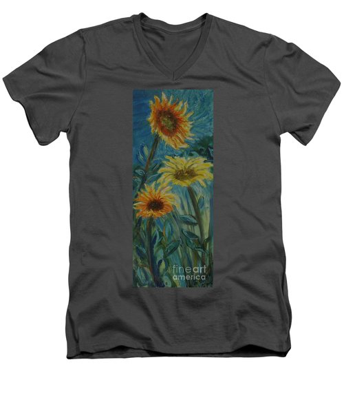 Three Sunflowers - Sold Men's V-Neck T-Shirt