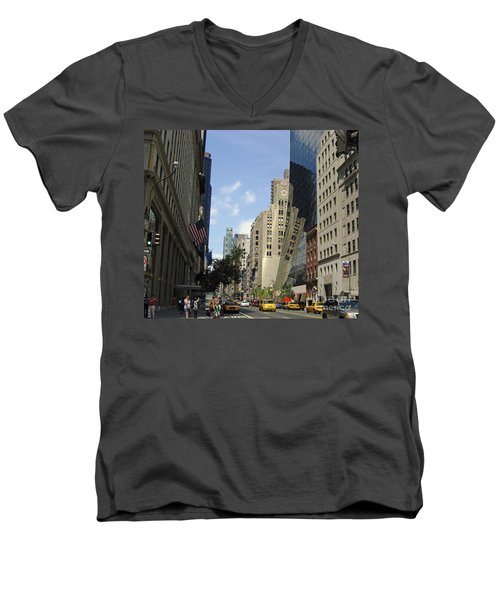 Men's V-Neck T-Shirt featuring the photograph Through The Looking Glass by Meghan at FireBonnet Art