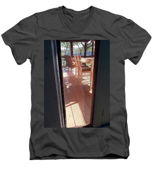 Through The Screen No 2 Men's V-Neck T-Shirt by Lon Casler Bixby