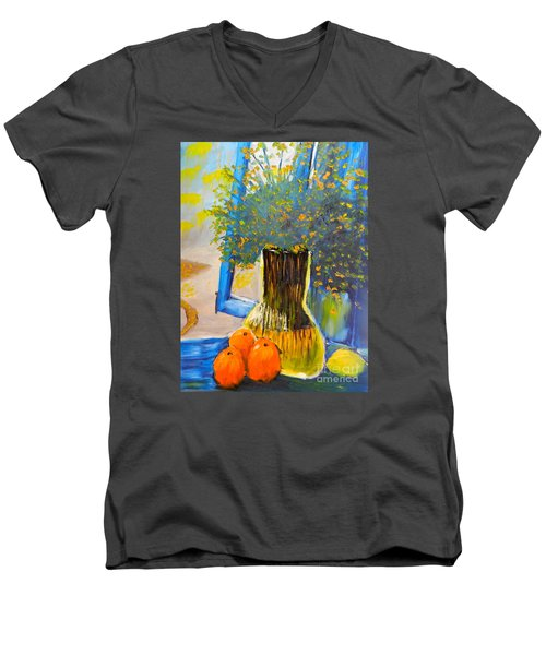 Through The Window Men's V-Neck T-Shirt by Pamela  Meredith