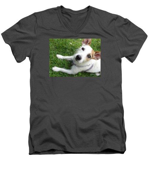 Throw It Again Men's V-Neck T-Shirt
