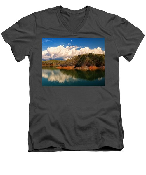Thunderstorm Rolling Over The Smokies Men's V-Neck T-Shirt