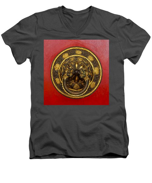 Tibetan Door Knocker Men's V-Neck T-Shirt